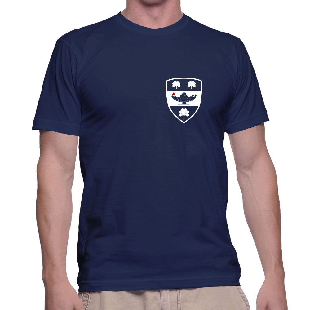 T-shirt – blue with shield